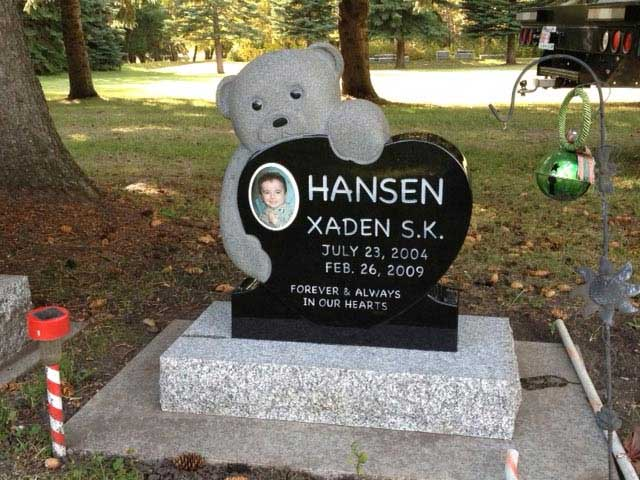 Legacy Monuments Infant Memorial Headstone Gallery Made From Granite Marble And Stone In Red