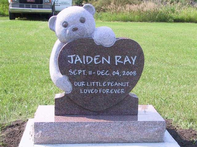 Legacy Monuments Infant Memorial Headstone Gallery Made