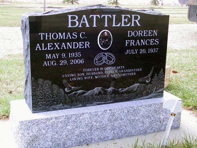 Legacy Monuments Upright Styled Memorial Headstone Gallery Made From Granite Marble And